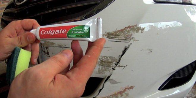 استخدام معجون الاسنان لازلة خدوش السيارات
