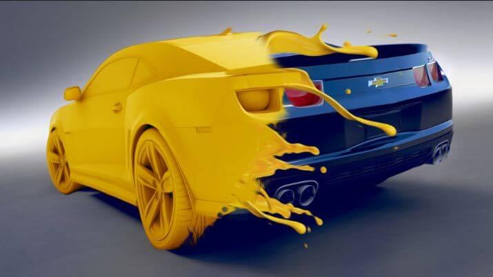 طلاء السيارة