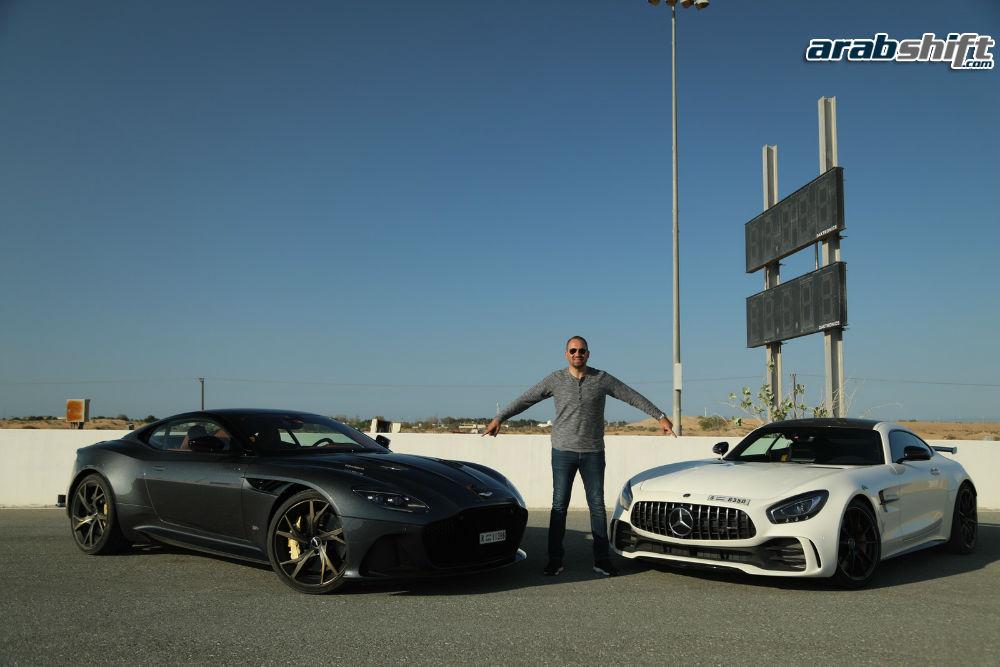 عرب شفت يتحدى توب جير ويؤكد تفوق استون مارتن DBS على مرسيدس AMG GTR