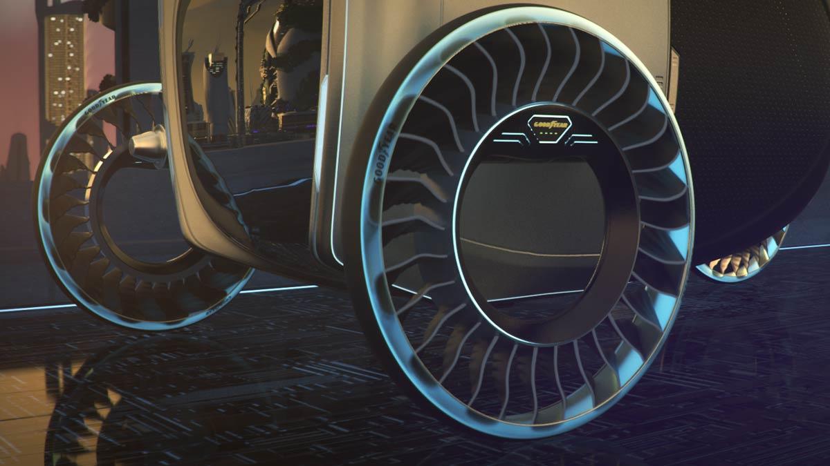عجلات مميزة للسيارات الطائرة