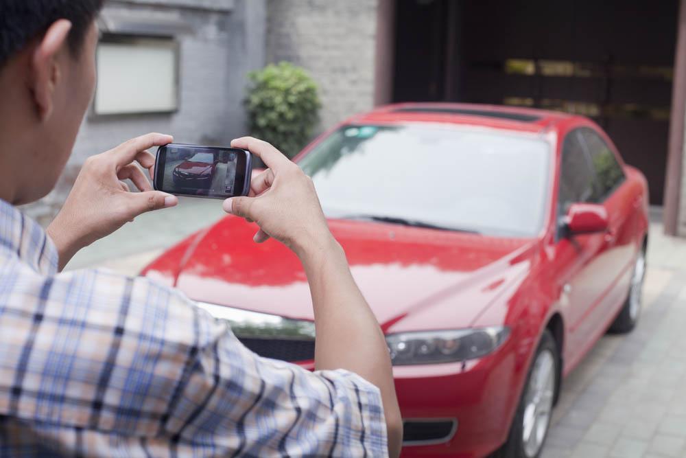 التقط صورة او فيديو لمكان ركن سيارتك